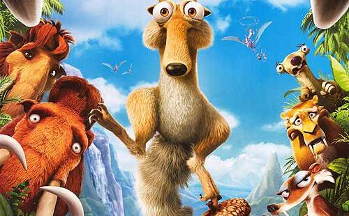 ice age 3 dawn of the dinosaurs desene animate sequel digital 3d film scrat sid diego manfred epoca de gheata 3 trailer oficial official