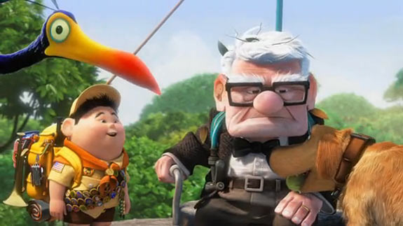 up desene animate 2009 film pixar walt disney edward asner christopher plummer pete docter bob peterson comedie