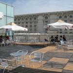 Terasa si cafeneaua MNAC din Casa Poporului