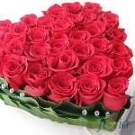 Inima din 31 trandafiri roz