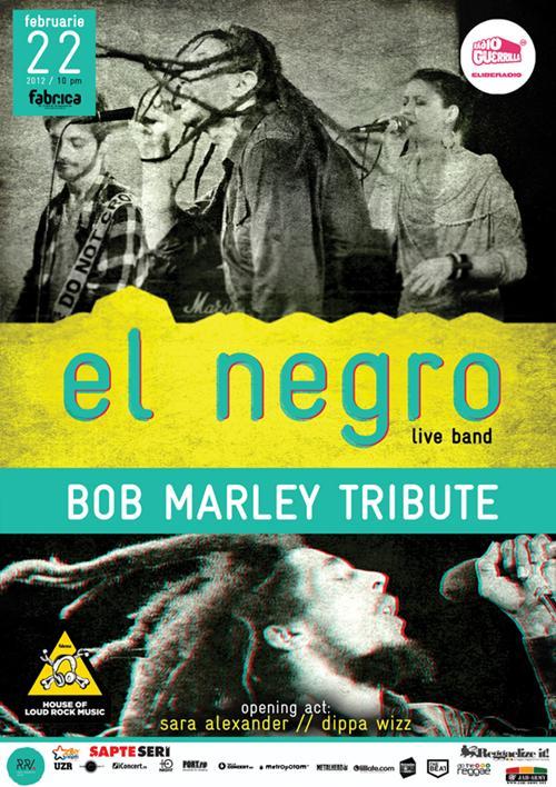 El Negro tribut Bob Marley Club Fabrica