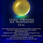 Curs Legile spirituale ale Prosperitatii – 12 februarie