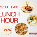 Lunch Hour iti aduce 20% discount la Nargila Grill & Bar