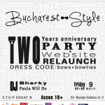 Bucharest-Style- 2 years anniversary & Website relaunch party
