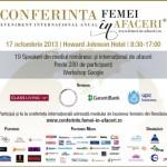Conferinta Internationala FEMEI in AFACERI – Mediul de business feminin romanesc fata in fata cu cel international